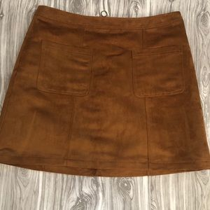 Old Navy Suede Mini Skirt Size 14
